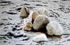 Stenar i vattnet