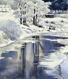Vinterlandskap med träd / Winter landscape with trees